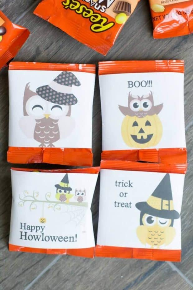 Free Printable Candy Bar Wrappers for Halloween