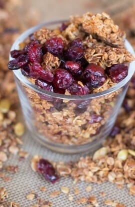 Homemade Orange Cranberry Granola Recipe