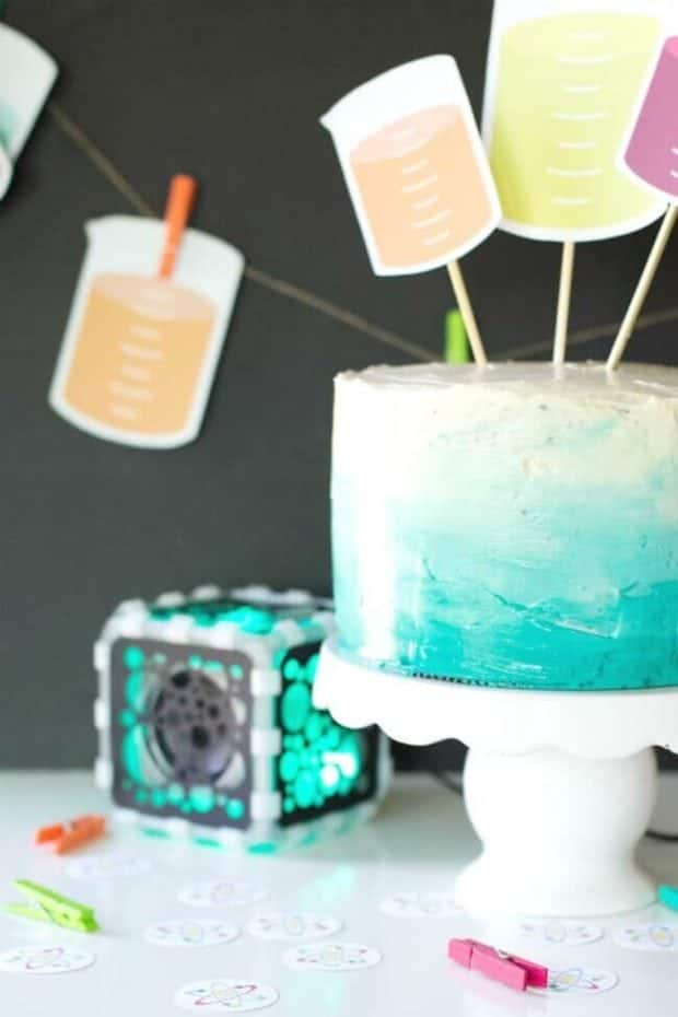 Mad Science Birthday Party Cake