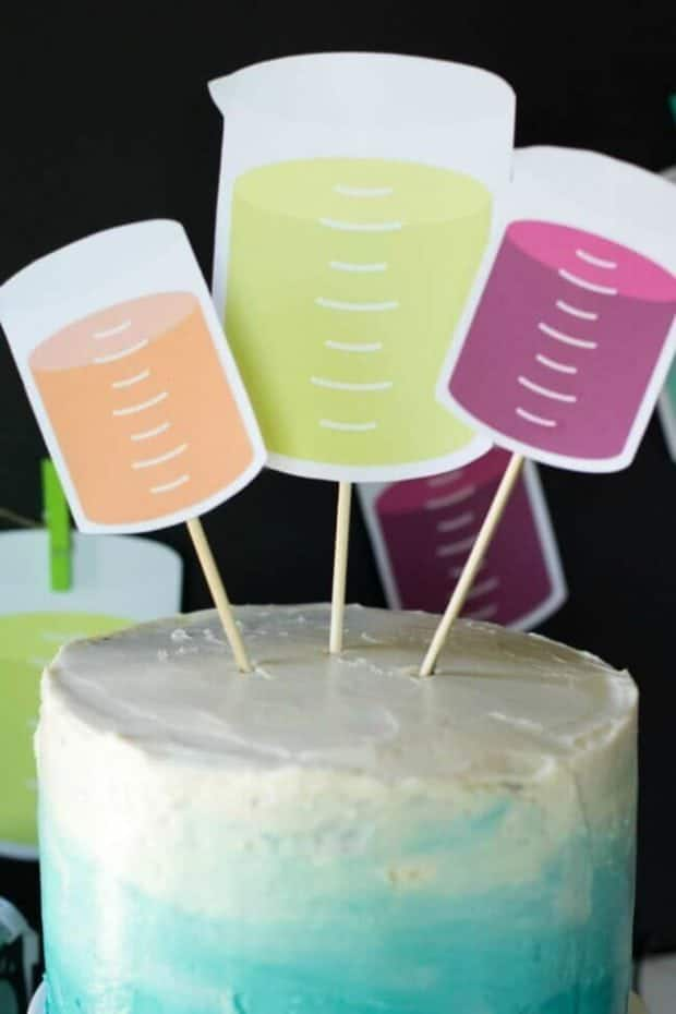 Mad Science Party Cake