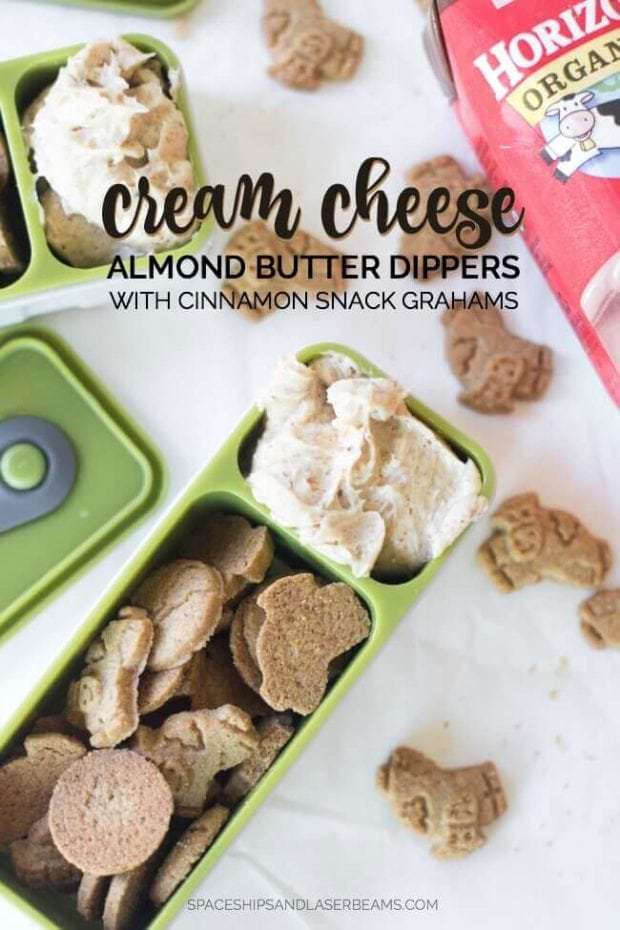 Cream Cheese Almond Butter Dippers with Cinnamon Snack Grahams