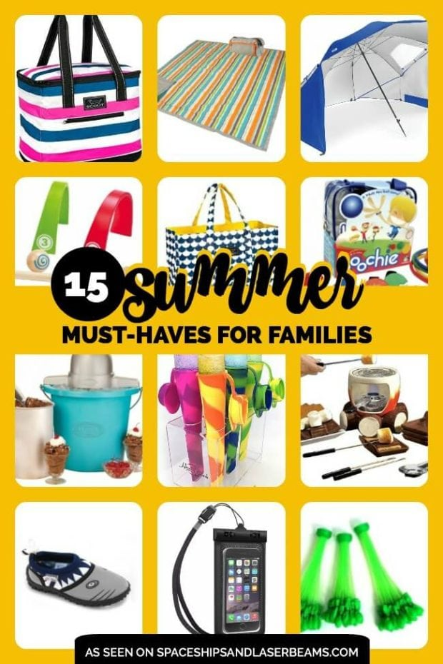 Summer Must Haves for Families collated by Spaceships and Laser Beams