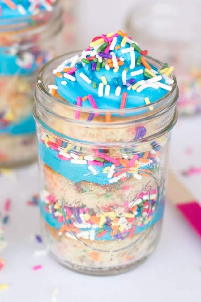 how to make cake mix in a jar uk