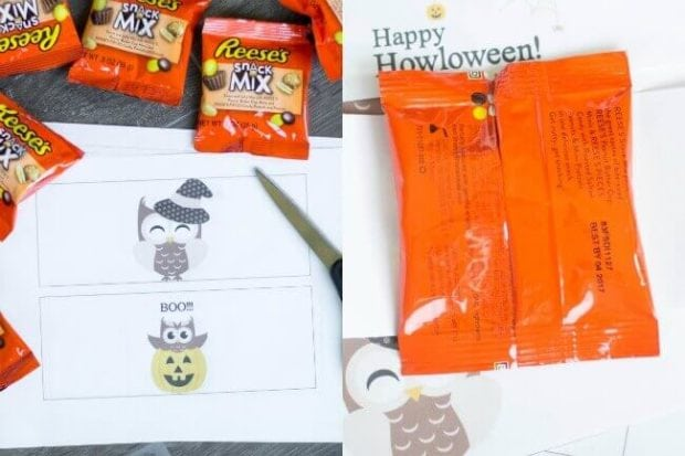 Owl Halloween Candy Wrapper