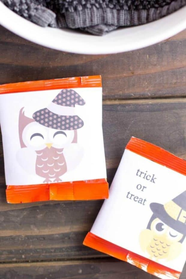 Owl Trick or Treat Candy Bar Wrappers