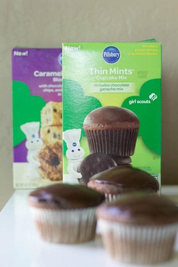 Pillsbury Thin Mint Cupcakes
