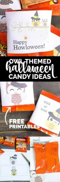 Owl Themed Halloween Candy Ideas + Free Printable