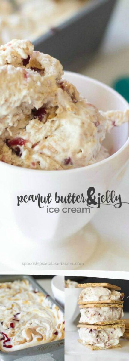 Peanut Butter & Jelly Ice Cream Sandwiches
