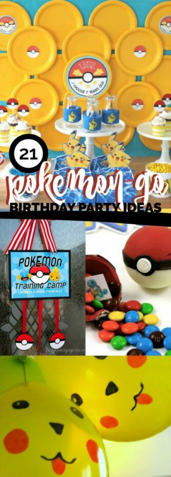 Pokemon Go Birthday Party Ideas