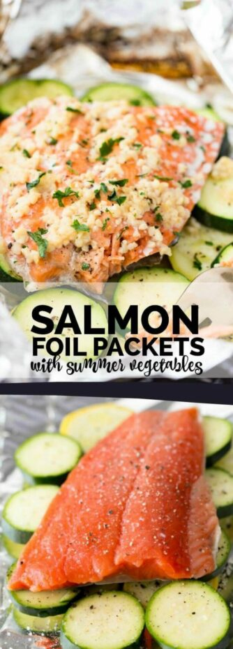 Salmon Foil Packets with Summer Vegetables