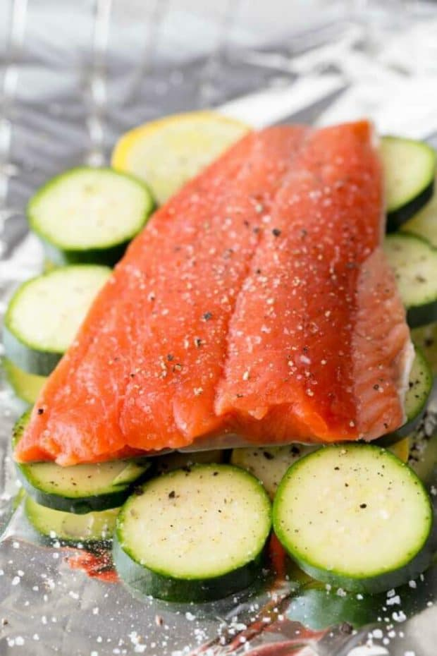 Recipe for Salmon in Foil Packet