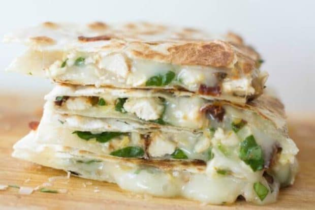 Spinach & Chicken Quesadilla