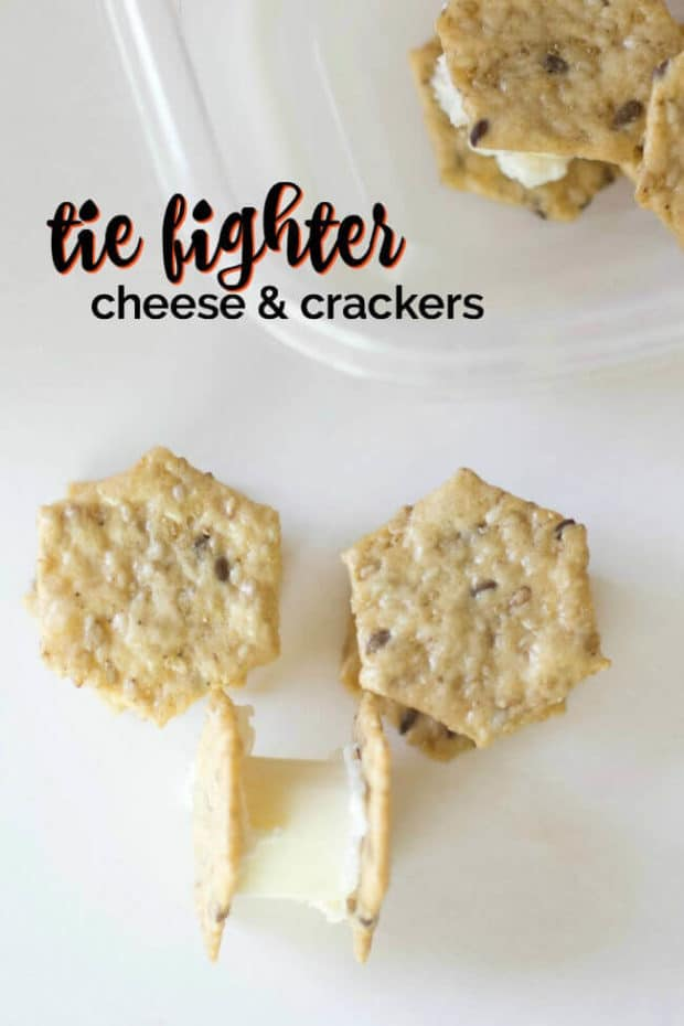 Tie Fighter Cheese & Crackers