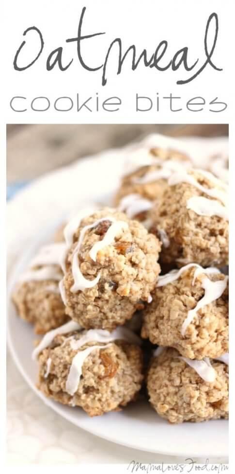 Gluten Free Oatmeal Cookie Bites