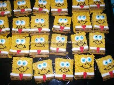Spongebob Rice Krispy Treats
