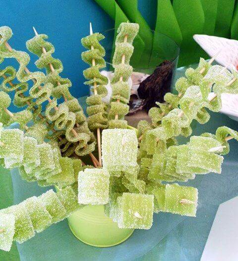 Green Seaweed Sugar Ribbons