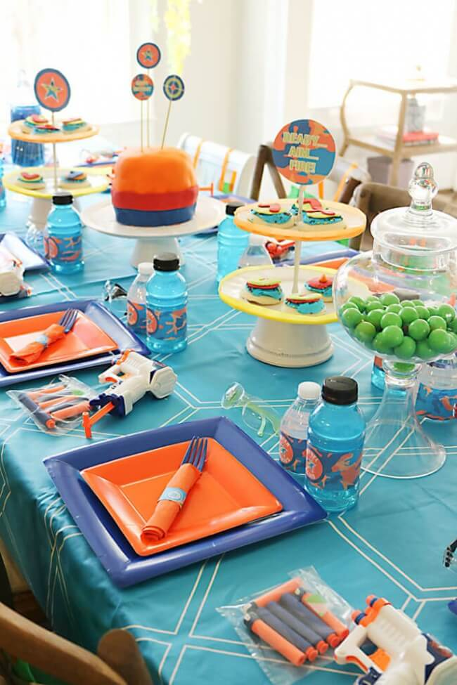 Nerf Party Table