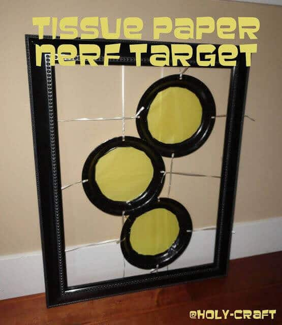 Tissue Paper Nerf Target