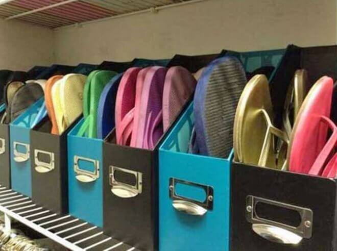 Magazine HOlder Flip Flop Storage