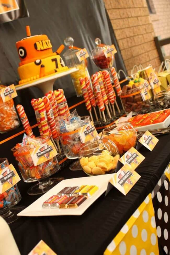 Nerf Party Dessert Table