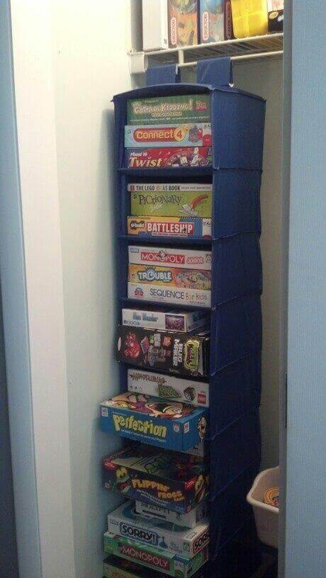 Sweater Bag Board Game Storage