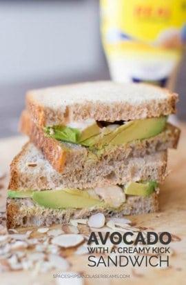 Avocado Sandwich with a Creamy Kick