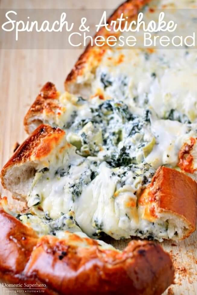 Stuffed-Spinach-Artichoke-Cheese-Bread