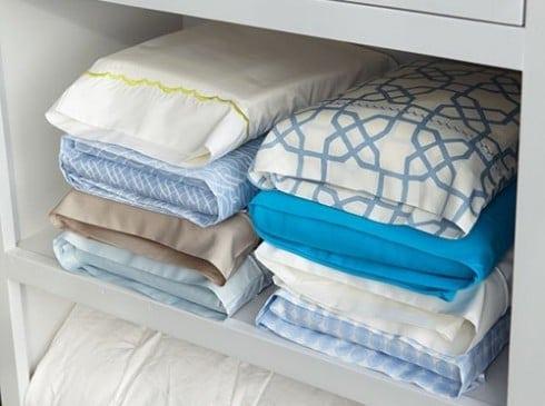 Sheet and Pillowcase Storage