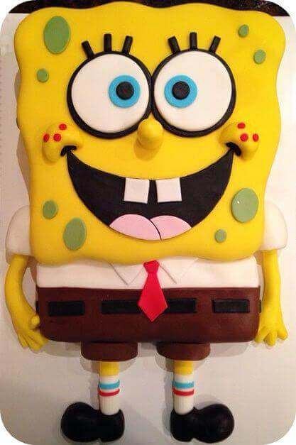 Easy Spongebob Birthday Cake