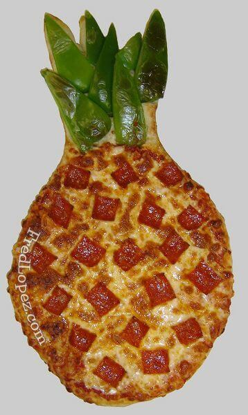 Pineapple Shaped Pizza