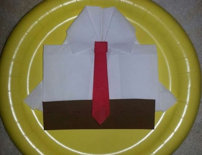DIY Spongebob Square Pants Napkin