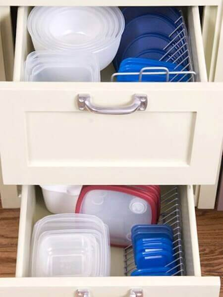 CD Tower Tupperware Storage