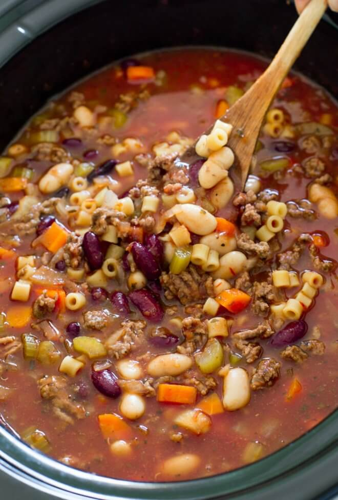 Slow Cooker Fagioli Soup