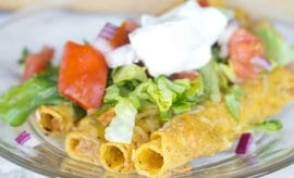Green Chili Taquito Enchiladas
