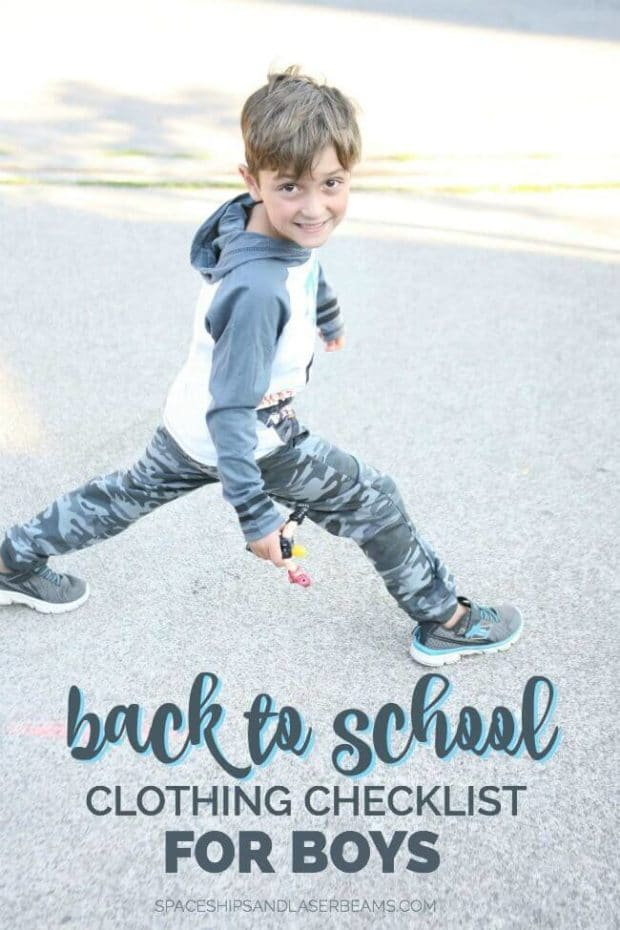 Back to School Clothing Checklist for Boys