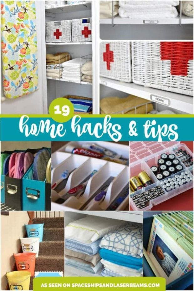 19 amazing home organization tips and hacks spaceships for Household hacks