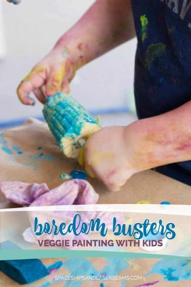 Boredom Busters: Veggie Painting with Kids