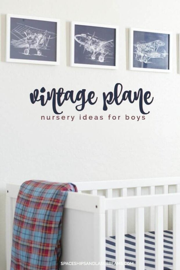 Vintage Plane Nursery Ideas for Boys