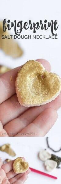 Fingerprint Salt Dough Necklace