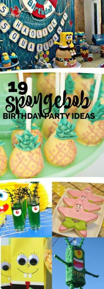 SpongeBob Birthday party Ideas