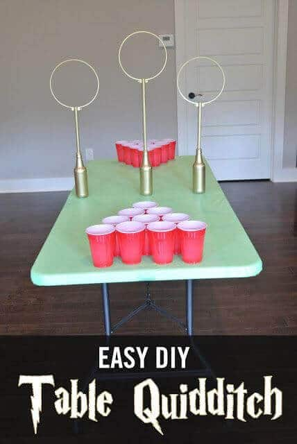 Create This Easy Table Top DIY Quidditch Game For Your Harry Potter Birthday Party