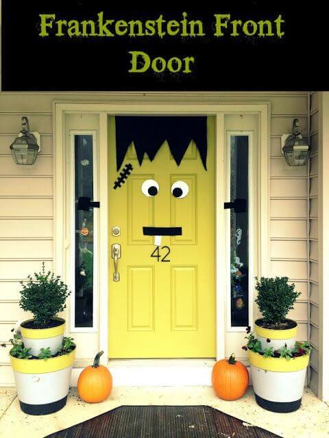 Frankenstein Halloween Door Decorations