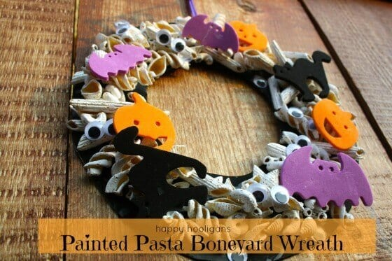 Halloween Boneyard Wreath