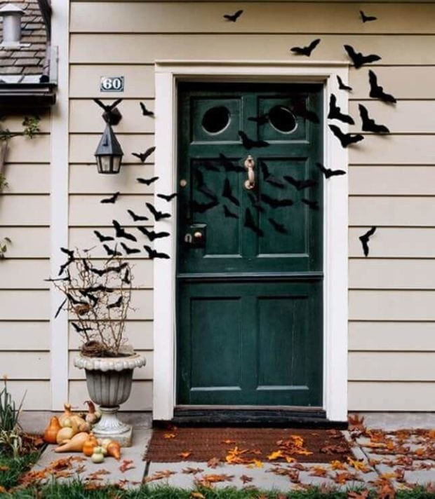 Felt Bats Halloween Door Decorations