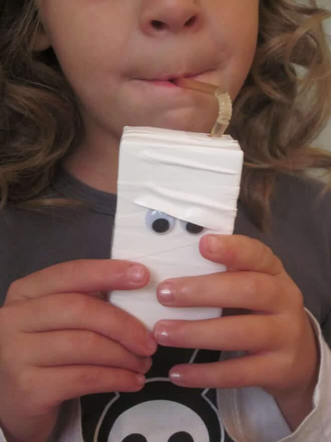 Halloween Juice Box Mummies
