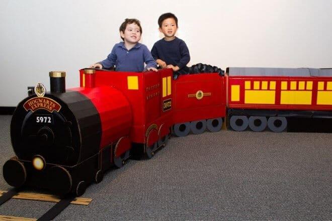 DIY Cardboard Hogwarts Express