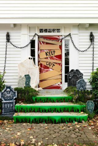 Keep Out Halloween Door Decorations
