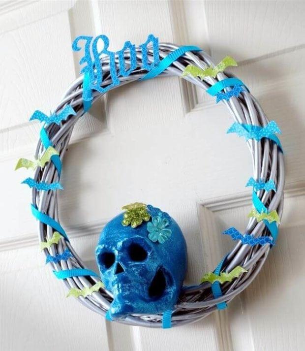 Turquoise Skull Wreath