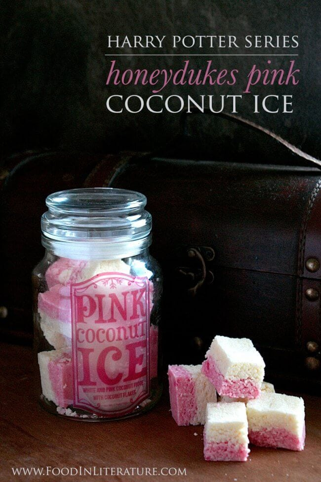 Harry Potter-themed Honeydukes Pink Coconut Ice looks and tastes magical