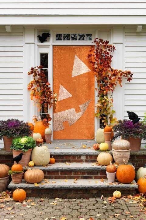 Jack O Lantern Halloween Door Decorations